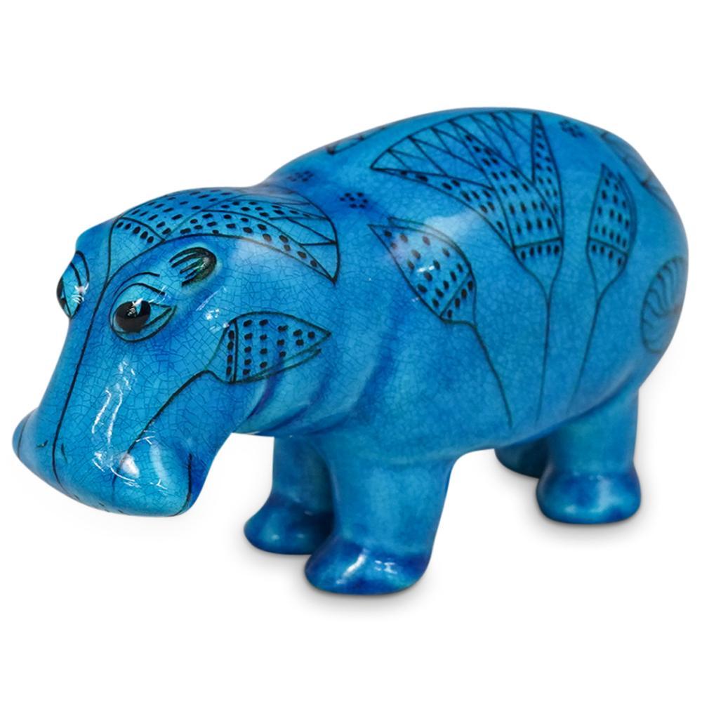 """William the Hippo"" Pottery Figurine"