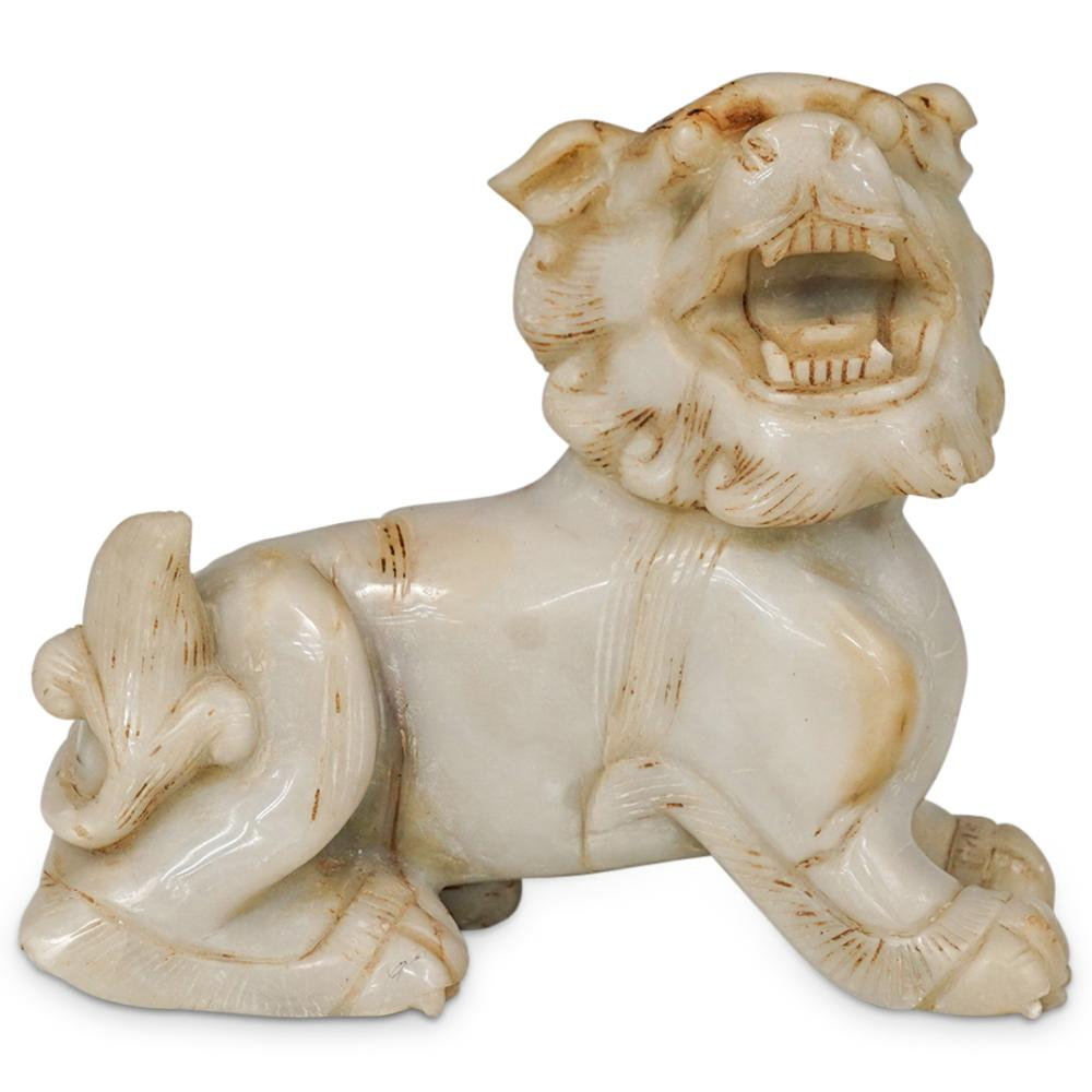Chinese Carved Jade Foo Dog Sculpture