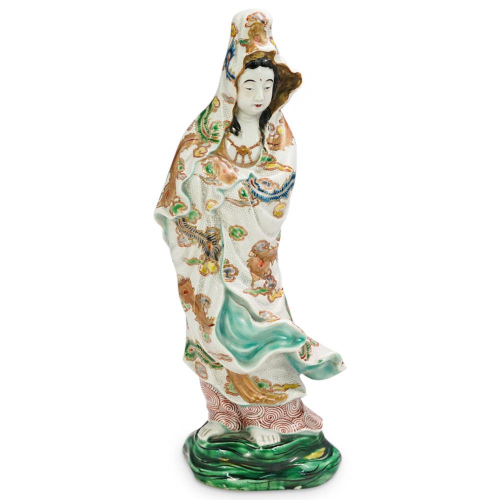 Japanese Satsuma Kannon Figurine