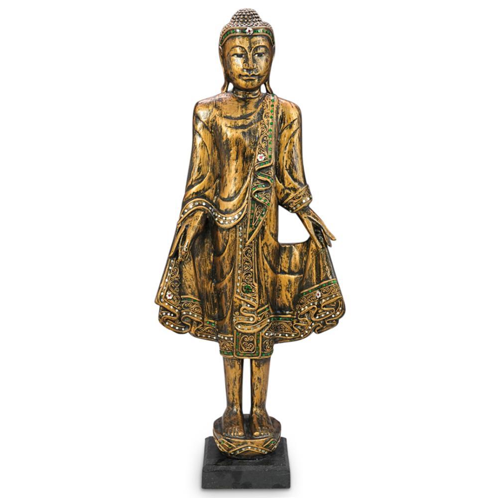 Gilt Wood Carved Buddhist Goddess