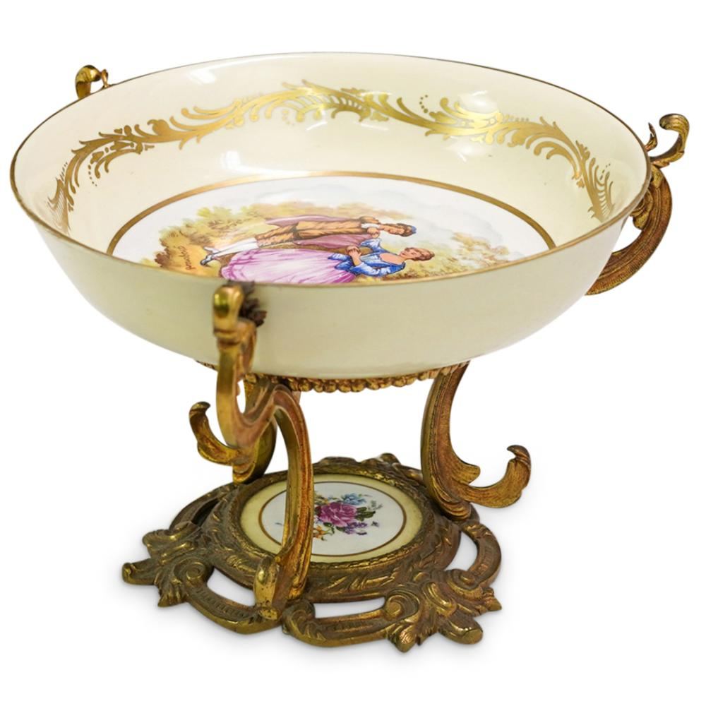 Sevres French Bronze Ormolu Mounted Bowl