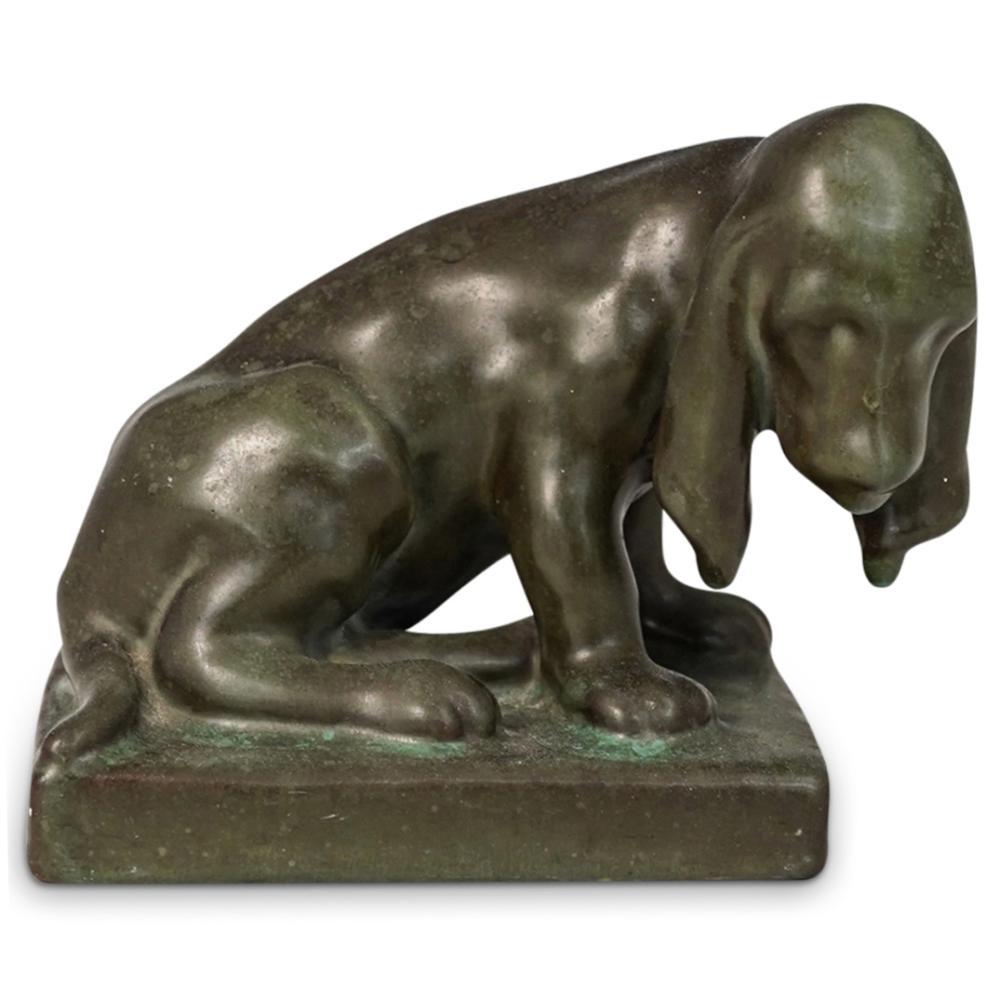 Louise Abel Rookwood Pottery Hound Dog Figurine
