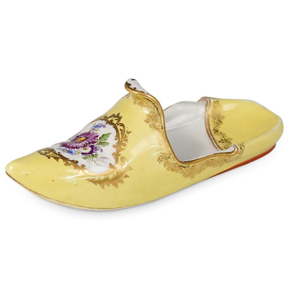 Antique Meissen Porcelain Slipper Shoe Figurine