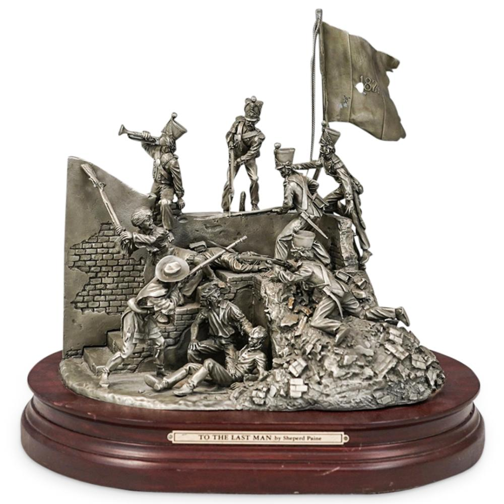 """Shepard Paine """"To the Last Man"""" Pewter Sculpture"""