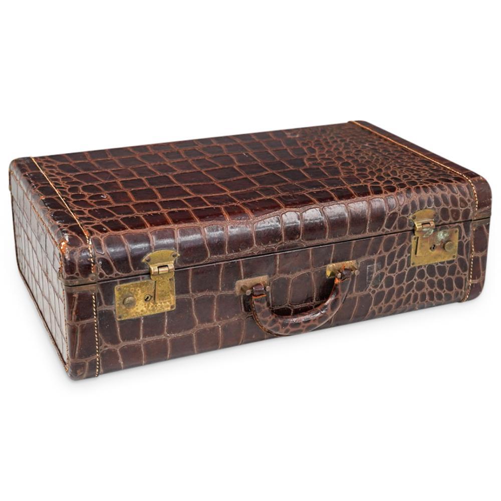 Crocodile Skin Luggage Travel Suitcase