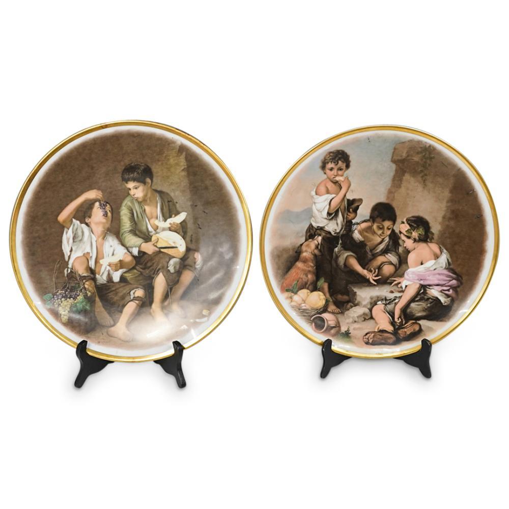 (2 Pc) Bavarian Large Porcelain Plates