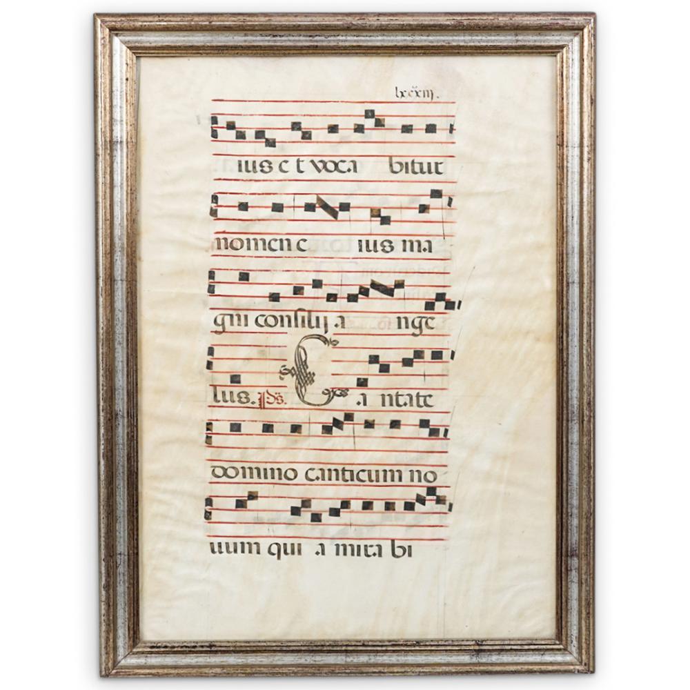 17th Century Gregorian Chant Sheet Music