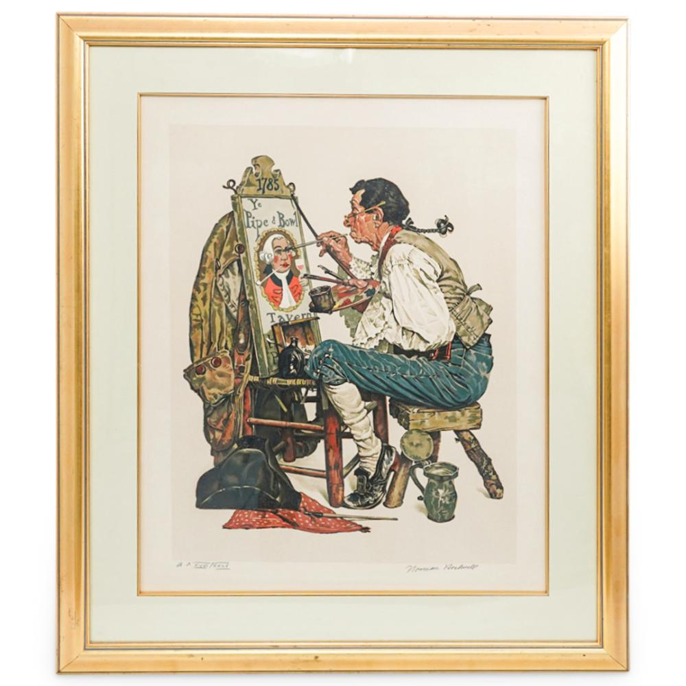 Norman Rockwell (American. 1894-1978) A.P. Signed Lithograph