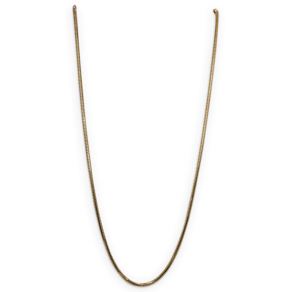Italian 14k Gold Snake Chain Necklace