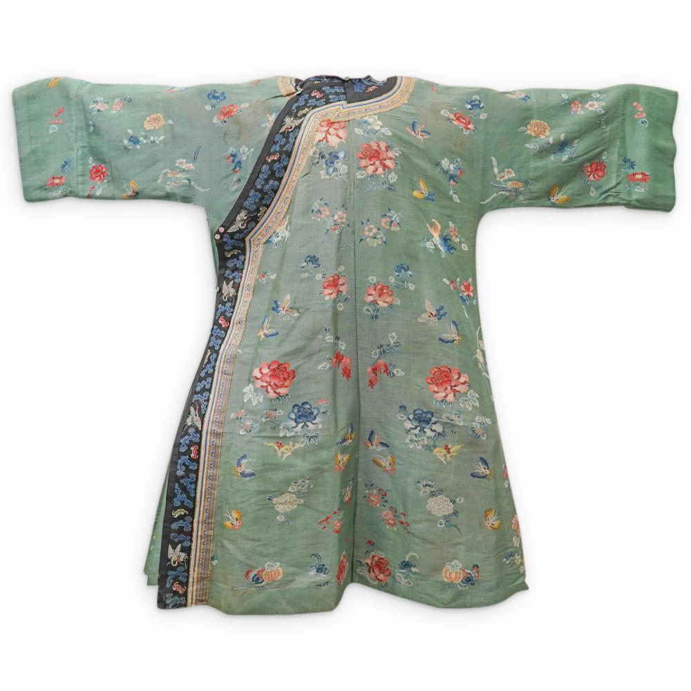 Chinese Counted Stitch Summer Gauze Robe