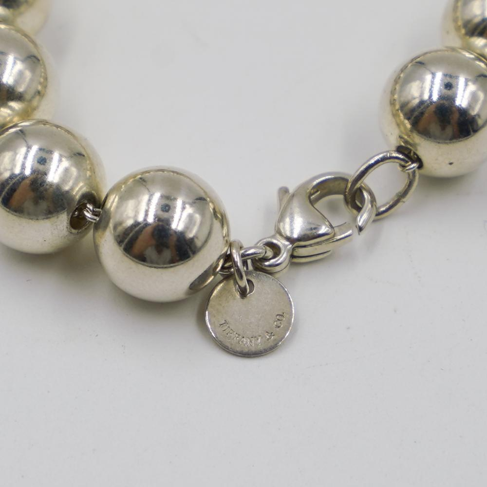 Tiffany And Co Sterling Silver Beaded Necklace