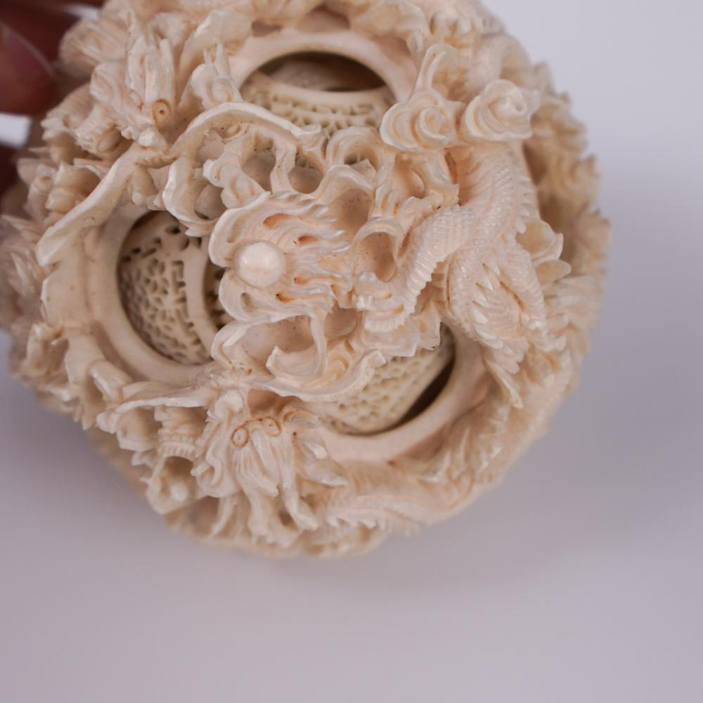 Antique Chinese Carved Bone Puzzle Ball