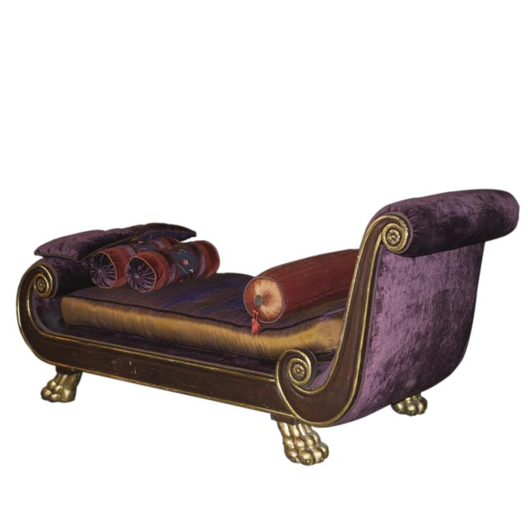 antique sleigh chaise lounge