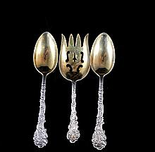 Set Of Three Gorham Sterling Silver Serving Utensils