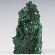 Carved Chinese Malachite Buddha