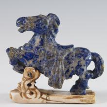 Signed Japanese Lapis Lazuli Horse
