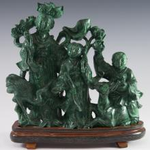 Antique Chinese Malachite Sculpture