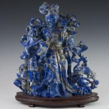 Carved Chinese Lapis Lazuli Sculpture