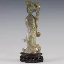 Antique Chinese Jade Guanyin