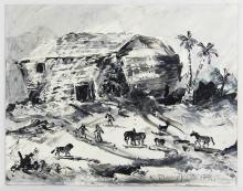 Morris Katz (1932-2010) Oil on Panel