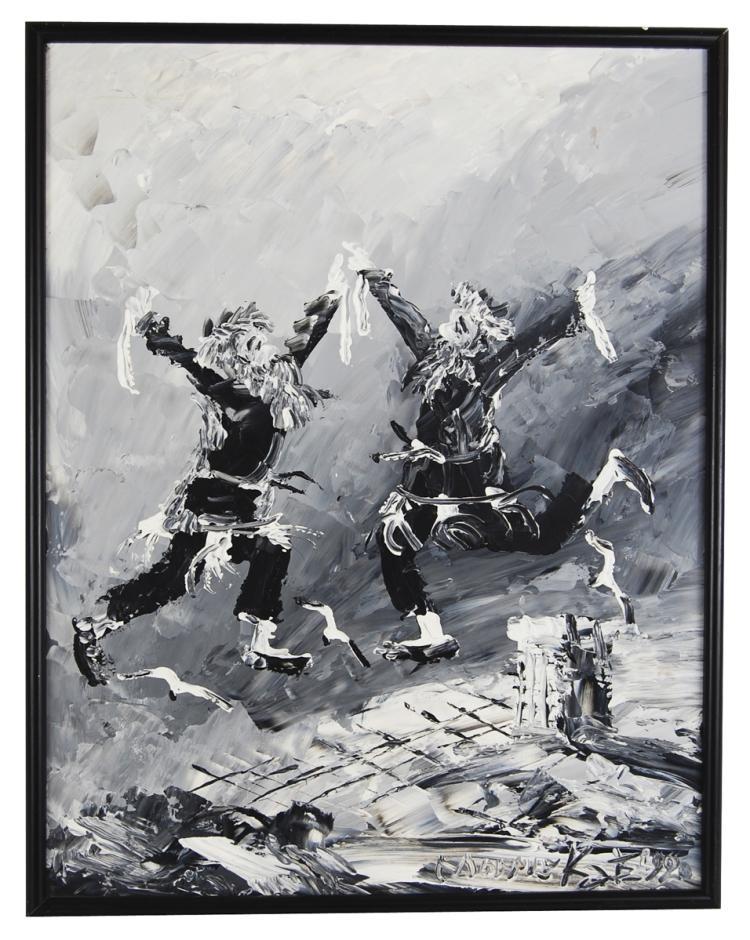 Morris katz 1932 2010 oil on panel for Katz fine art