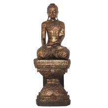 Antique Thai Carved Wooden Buddha