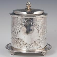 Christopher Johnson & Co Silver Plated Biscuit Barrel