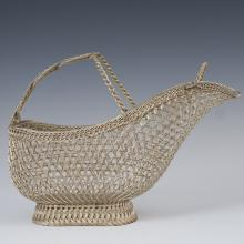 Eisenberg-Lozano French Silver Plated Wine Basket