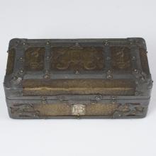Antique Wooden Arts & Crafts Casket Box