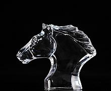 Baccarat Crystal Horse Bust
