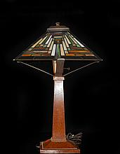 Multicolored Stained Glass Table Lamp