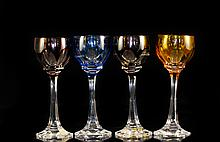 Four Piece Set Of Nachtmann Liquor Glasses.