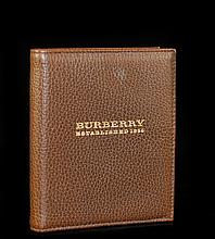 Burberry Dark Brown Leather Notebook