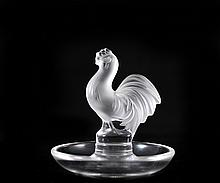 Lalique Rooster Ring Dish