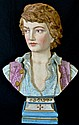 Vintage Italian prince porcelain bust. Stamped