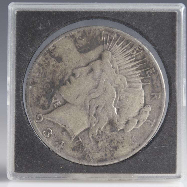 1934 Morgan Silver Dollar