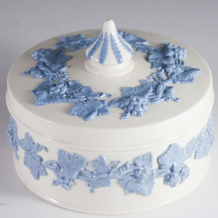 Wedgwood Embossed Queen's Ware Trinket Box