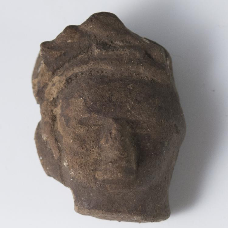 Probably Pre-Columbian Mayan Pottery Head