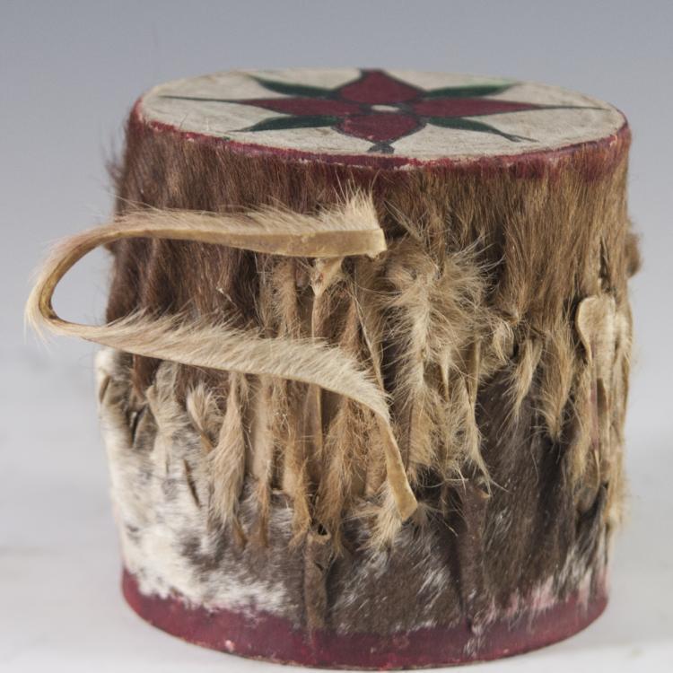 Kenyan Hand Painted Hide Drum