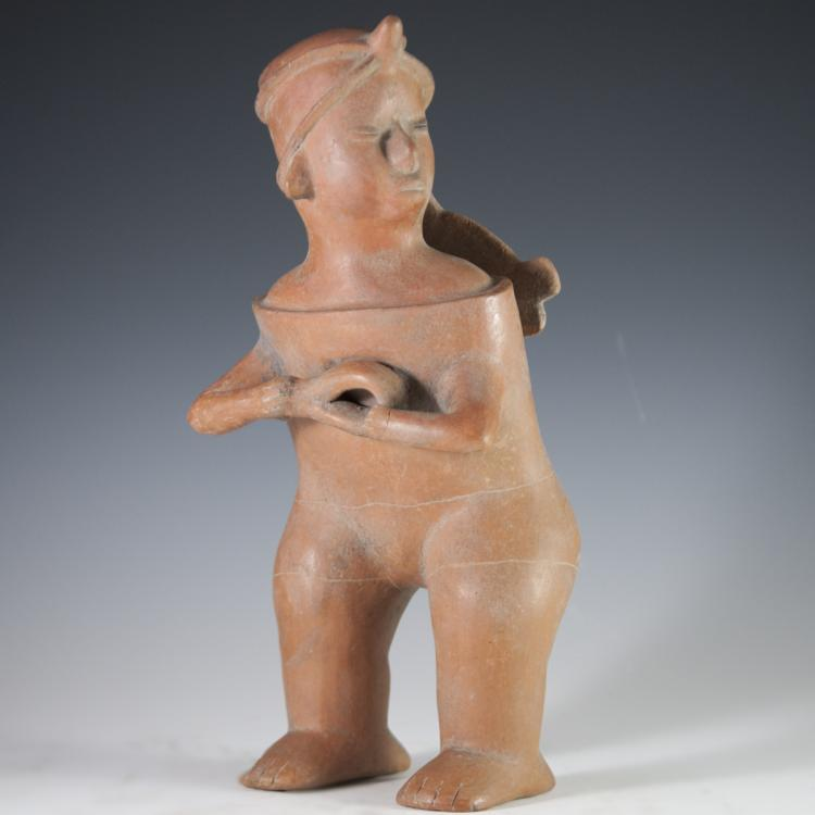 Probably Pre-Columbian Mayan Clay Idol