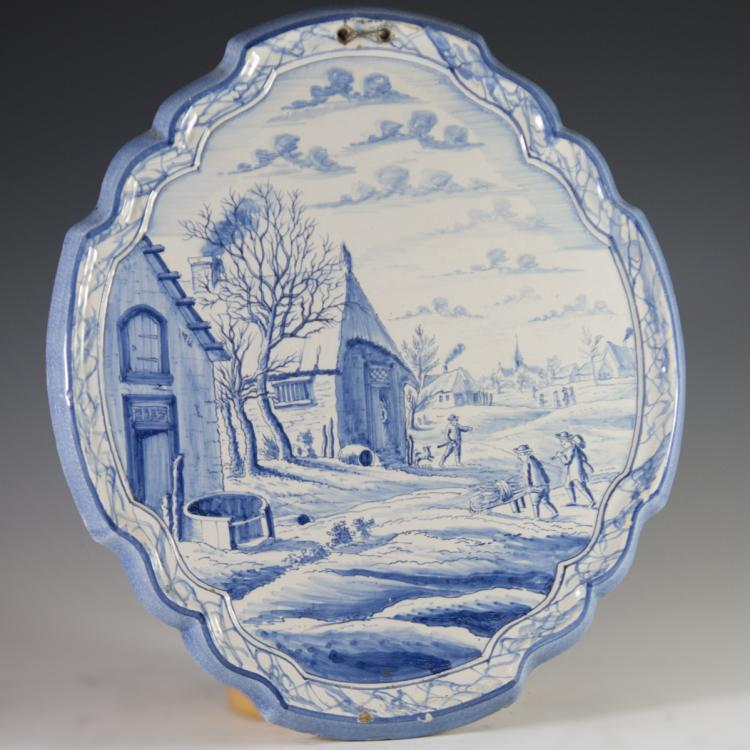 Antique Faience Plaque
