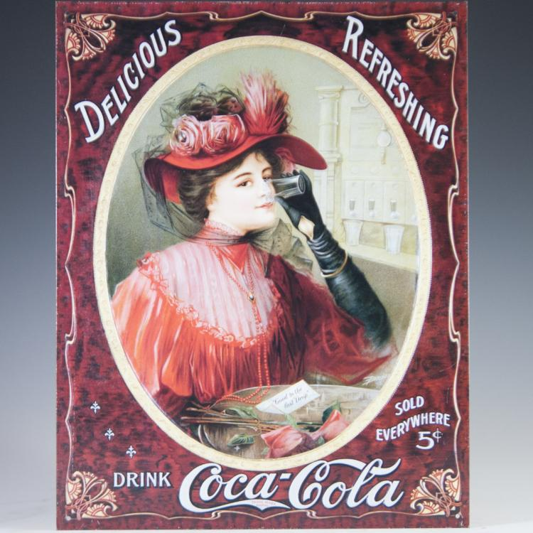 Coca Cola Aluminum Sign