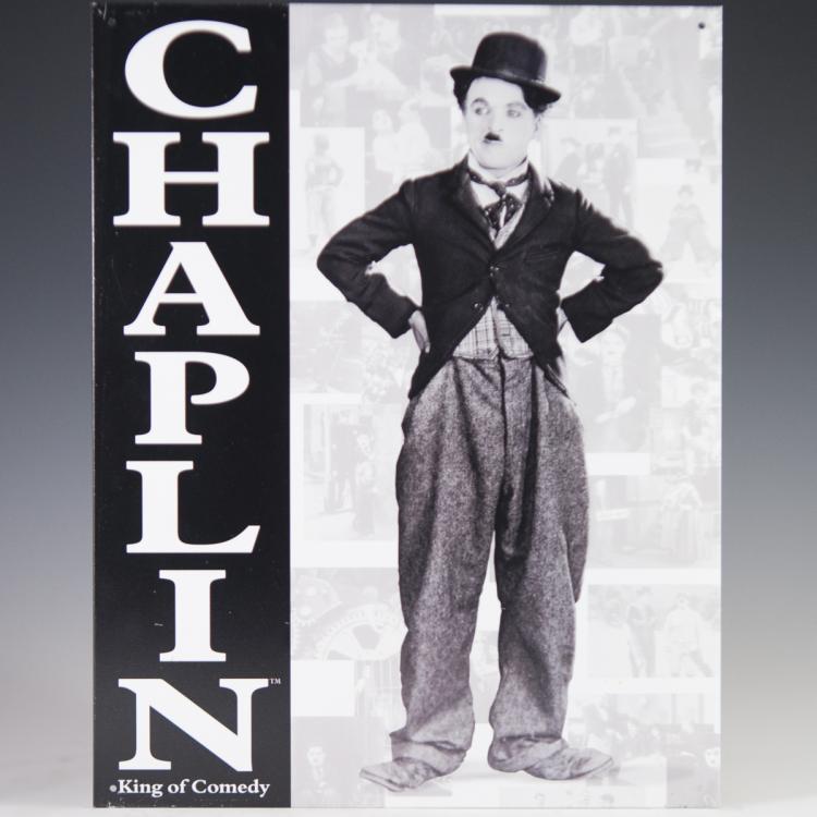 Charlie Chaplin Aluminum Sign