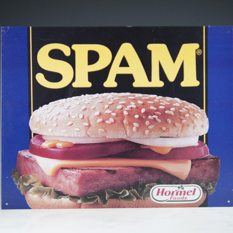 Spam Aluminum Sign