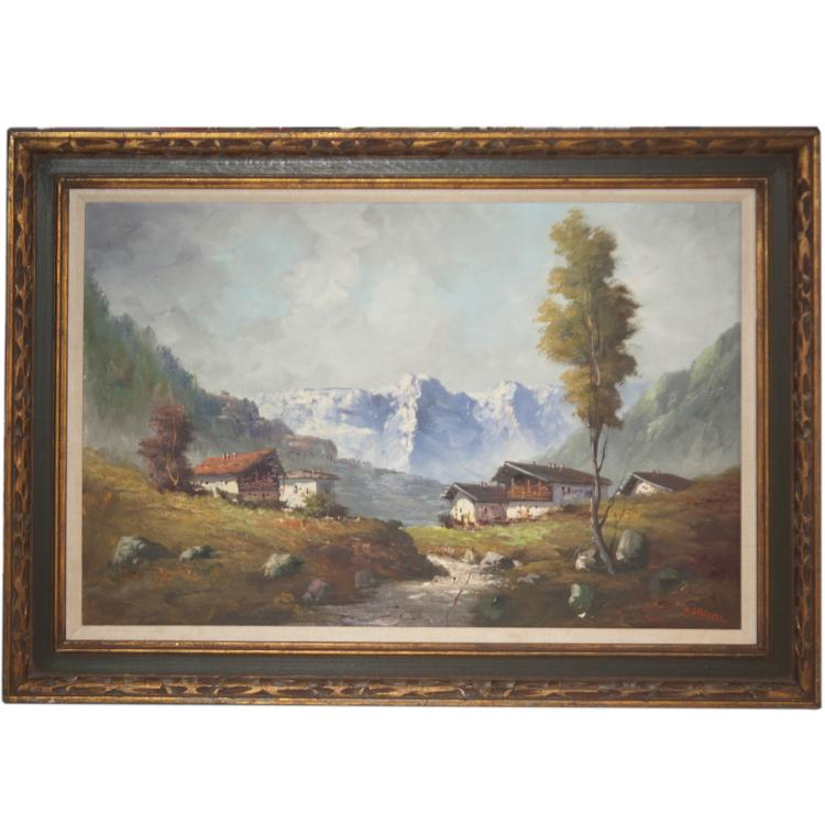 Oil on Canvas Landscape Signed: