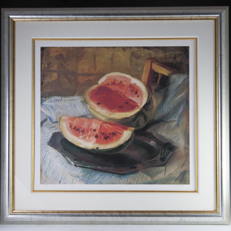Signed Still Life Lithograph