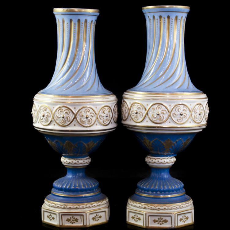 Antique French Porcelain Vases