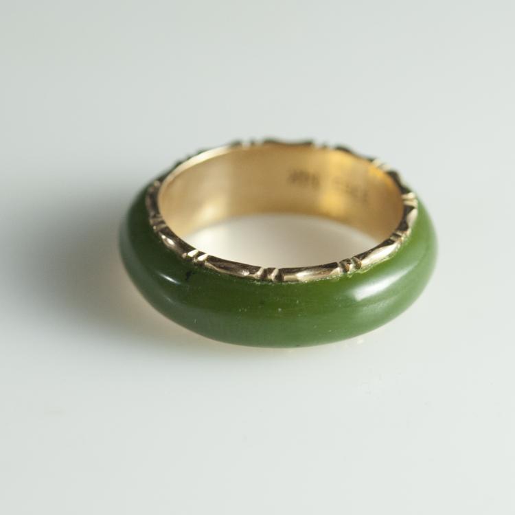 14kt Gold & Jade Ring