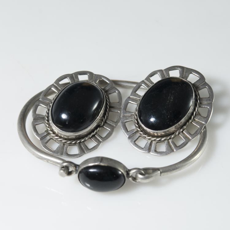 Mexican Sterling & Onyx Set
