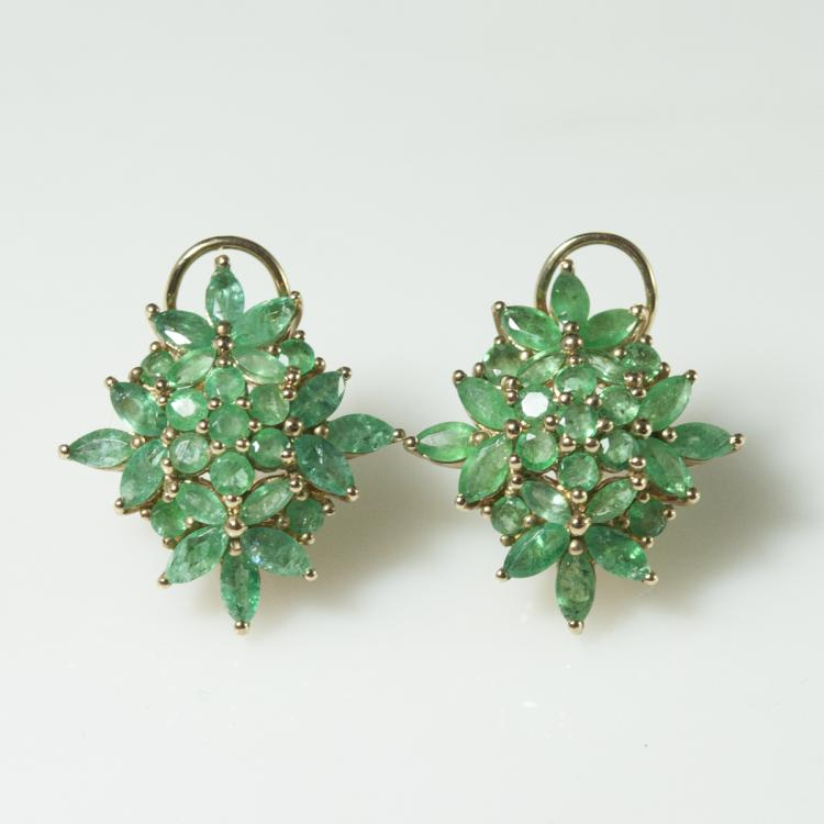 10kt Gold & Emerald Earrings